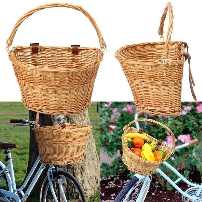 Vélo Bicyclette Panier Cycle Avant Panier de stockage organisateur de haute qualité