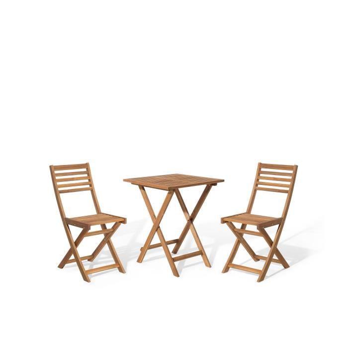 Petite table de jardin avec 2 chaise