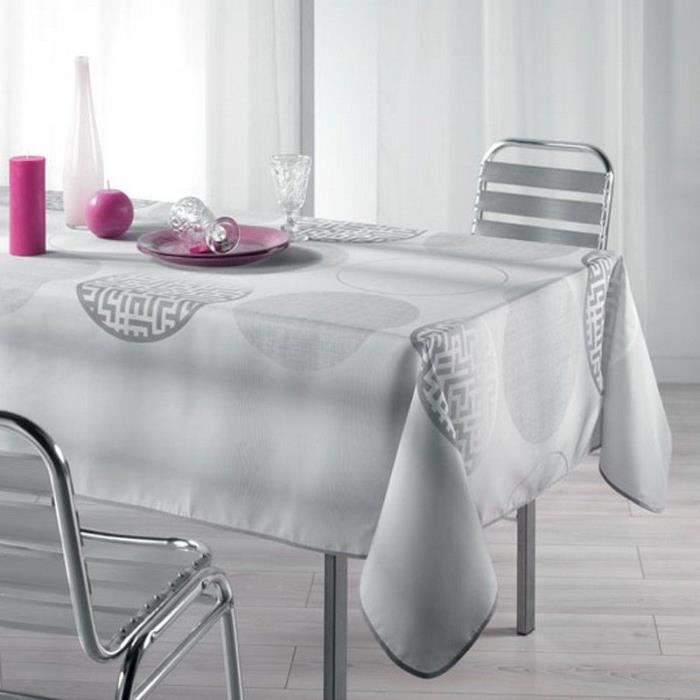 Nappe Anti-Tache Rectangle 150X240 Cm Kosmo Gris - Achat / Vente