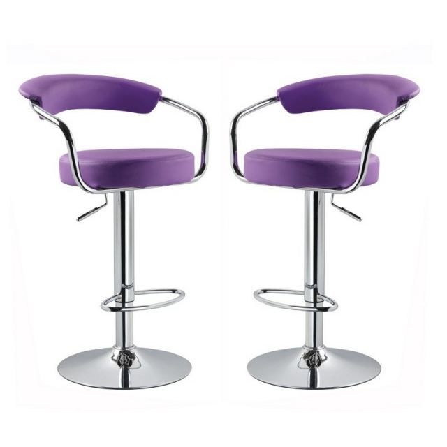 tabouret de bar violet x 2 retro coiffeur achat vente. Black Bedroom Furniture Sets. Home Design Ideas