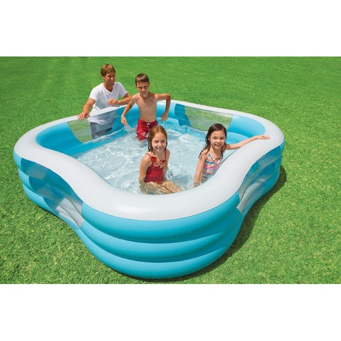 Piscine gonflable carr hublot achat vente pataugeoire for Piscine gonflable carree