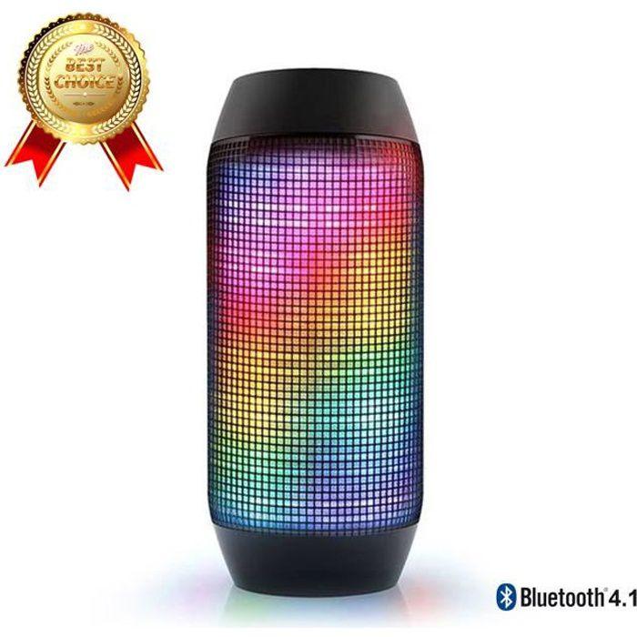 ENCEINTE NOMADE LCC® Pulse Enceinte Bluetooth sans fil avec lumièr