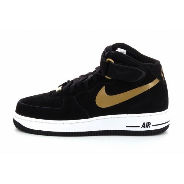 basket nike air force 1 mid 31 noir noir achat. Black Bedroom Furniture Sets. Home Design Ideas