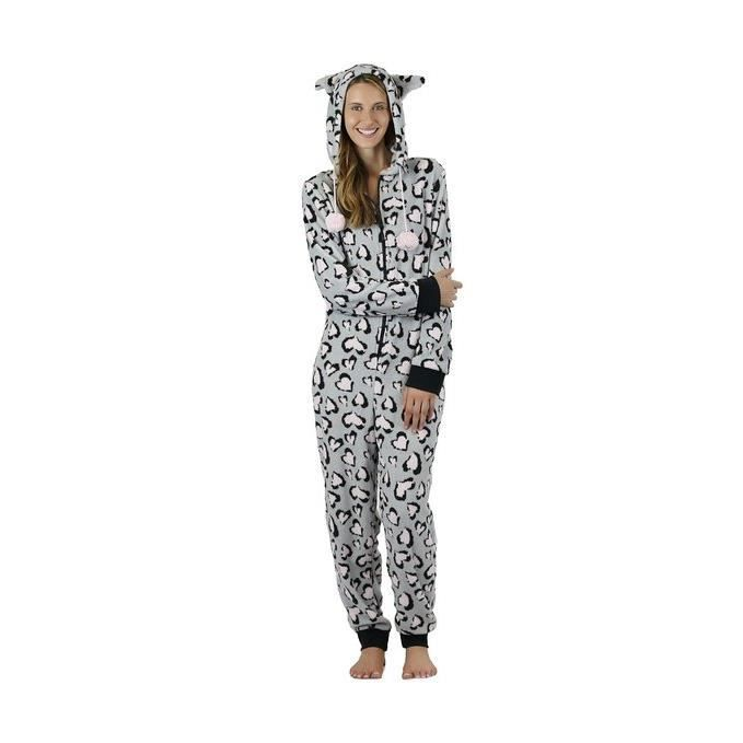 grenouill re polaire avec capuche femme pyjama achat vente chemise de nuit grenouill re. Black Bedroom Furniture Sets. Home Design Ideas