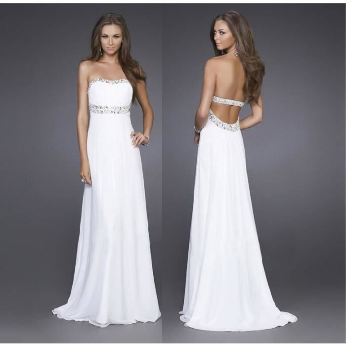 Robe cocktail soie blanche