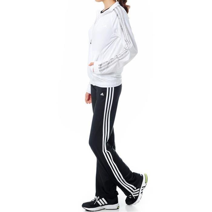 Survêtement Clima Knit suit Blanc Entrainement Femme Adidas