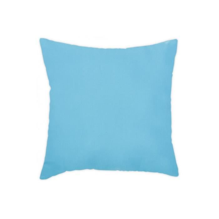 coussin 40x40 cm uni d houssable bleu turquoise achat. Black Bedroom Furniture Sets. Home Design Ideas