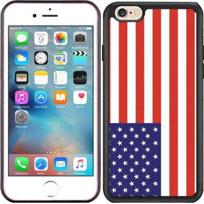 Coque iphone drapeau americain 6