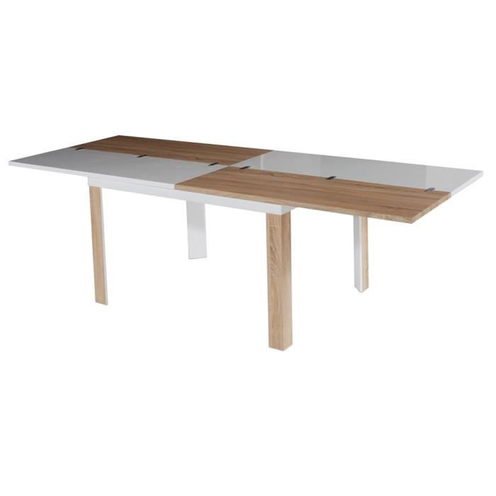 Table extensible swithome kolav laqu e blanche achat for Table laquee extensible