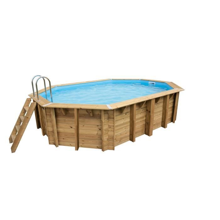 Piscine bois aspect bois semi enterr e achat vente for Piscine pas cher semi enterree