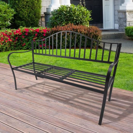 Banc de jardin design contemporain 2, 3 places tablette centrale ...