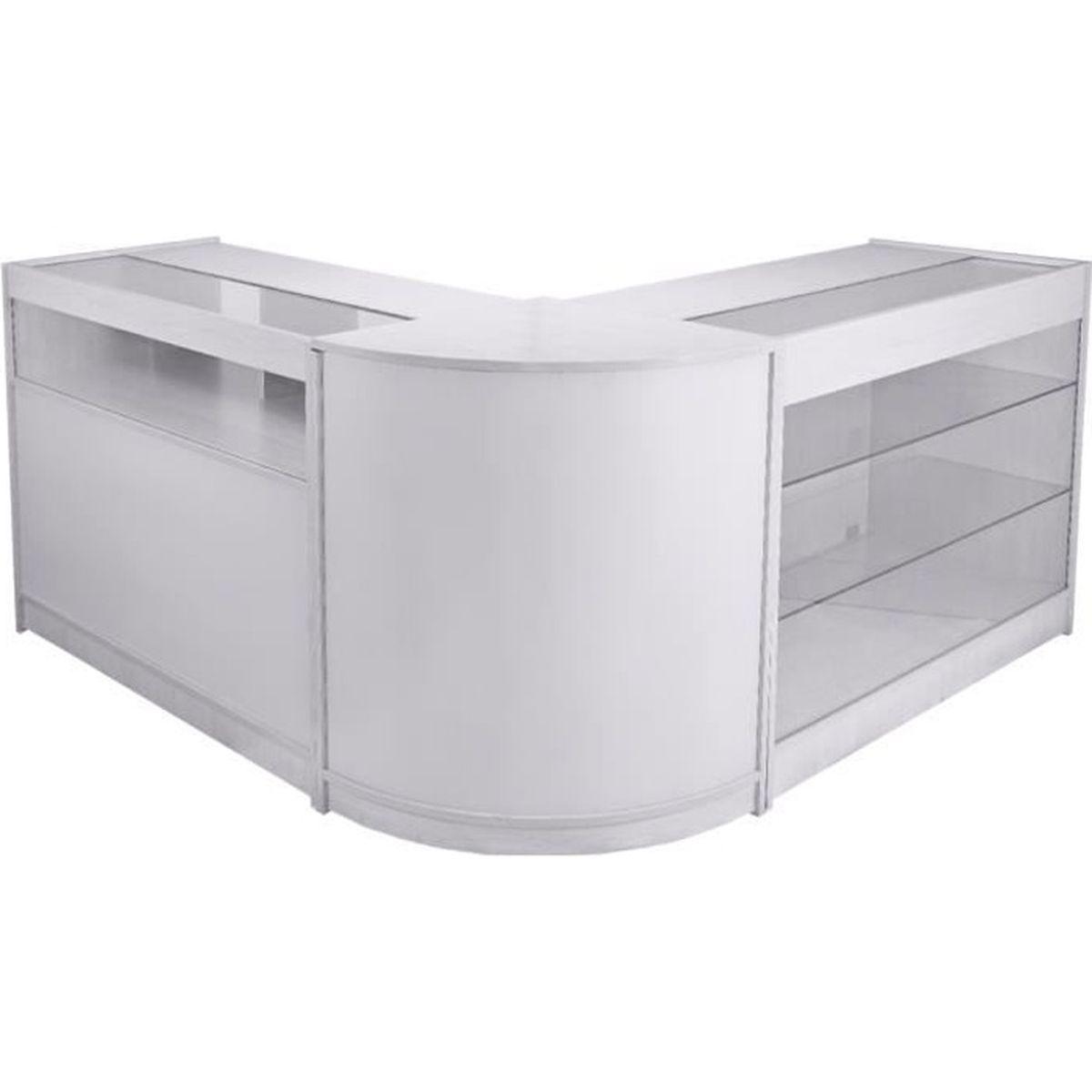 Feuille Stratifié Blanc Brillant pack taurus, lot de vitrines comptoirs blanc brillant pour