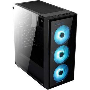 BOITIER PC  AEROCOOL Boitier PC QUARTZ RGB Noir (verre trempé)