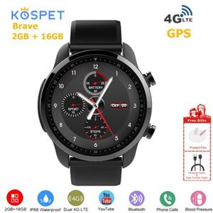 MONTRE Kospet Brave Smart Watch IP68 LTE 4G 2G+16G 1.3 IP