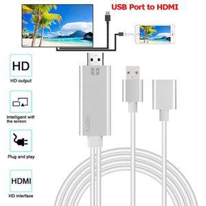 CÂBLE TV - VIDÉO - SON USB à HDMI 4K HD 1080P HD AV TV par câble adaptate