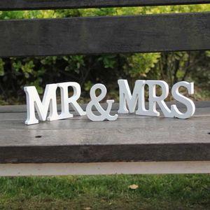 OBJET DÉCORATIF Mr et Mrs Lettres Alphabet en Bois Décoration de M