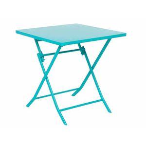 TABLE DE JARDIN  Table carrée pliante GREENSBORO 70 x 70 cm Lagon -