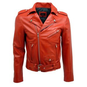 f2e6a42cd17f0 Blouson Cuir Homme Made in France Dks roc009 rouge Rouge - Achat ...