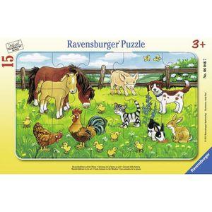 PUZZLE Ravensburger - 06046 - Puzzle Cadre - Animaux de l