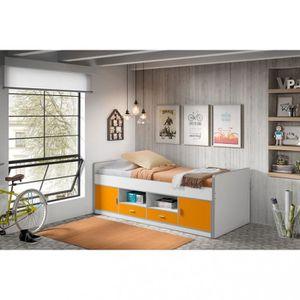 LIT COMBINE  Lit Combiné Orange 90x200