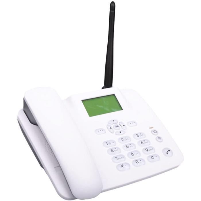 Ligne fixe fixe sans fil GSM Téléphone de bureau pour Seniors Bureau - Téléphone Montage mural Appelant à la maison IDENTIFIA 239
