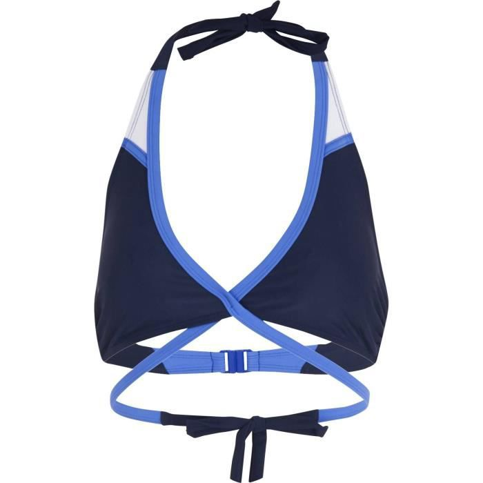 Haut de maillot de bain femme bleu marine