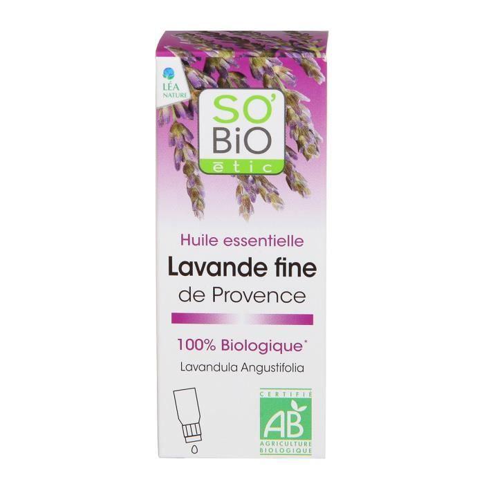 SOBIO Huile essentielle lavande fine de Provence - Bio - 10 ml - Calmant