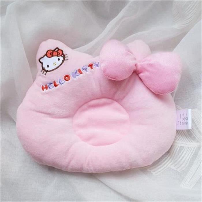 Oreiller Coussin Mignon pour Bébé Sommeil Anti Tête Plate oreiller stéréotypes -HELLO KITTY--Rose