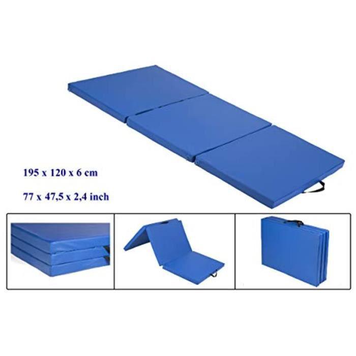 Housse Materiel PBCV9 tapis de sol souple, tapis de gymnastique pliable, tapis de sport, tapis de gymnastique pliants, 195 cm x 12 c