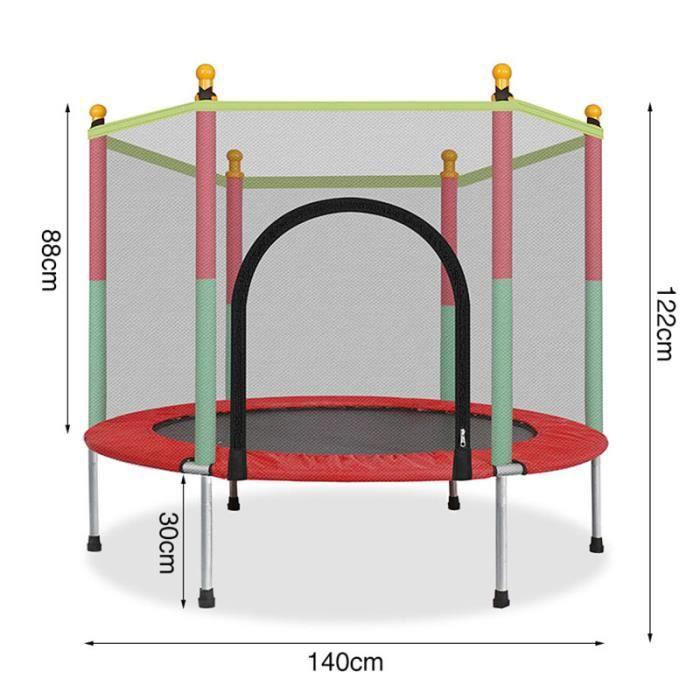 Trampoline pour enfants rond silencieux fitness filet de sécurité trampoline aire de jeux intérieure pour enfants