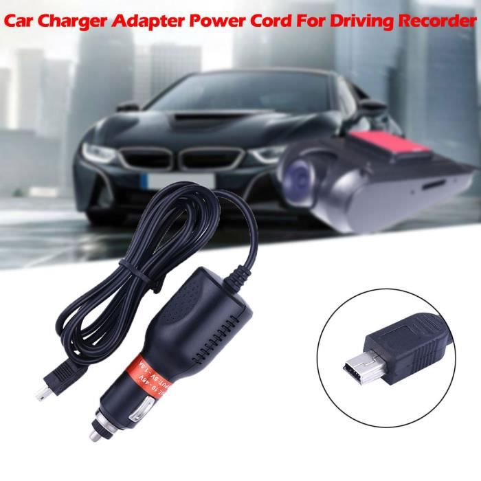 Adaptateur de chargeur de voiture USB Dash Cam DC Cordon d'alimentation pour enregistreur de conduite GPS rapide