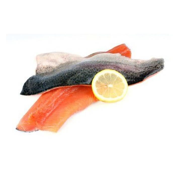 Filet de truite saumonée colis de 4 kg (Onchorynchus mykiss)