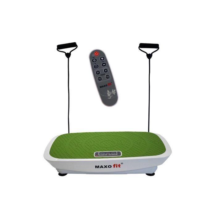 MAXOfit® Plate forme vibrante Greenline MF-21 avec télécommande et sangles d entraînement ajustables