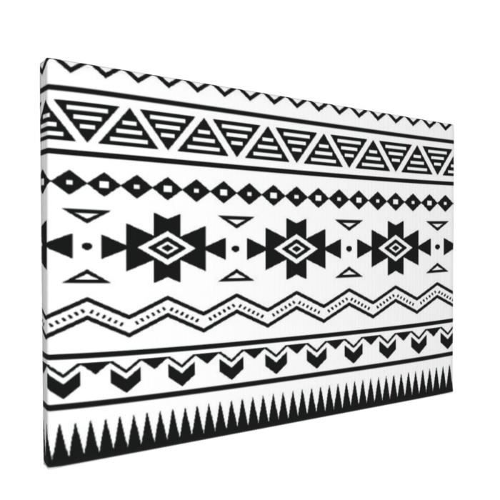 Impression sur Toile,Aztec American Folkloric Art Borders Ancient Tribal Amérique du Sud Culture Impression artistique,Décoratif