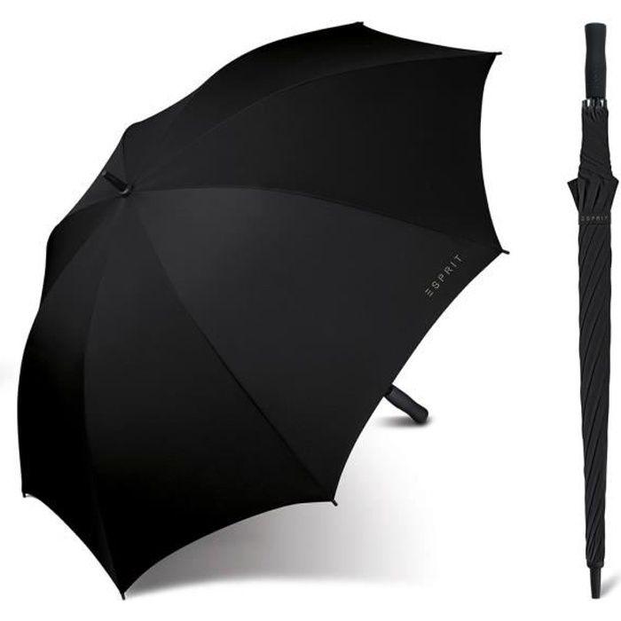 Esprit - Grand parapluie droit automatique femme Golf black 50101 taille 96 cm