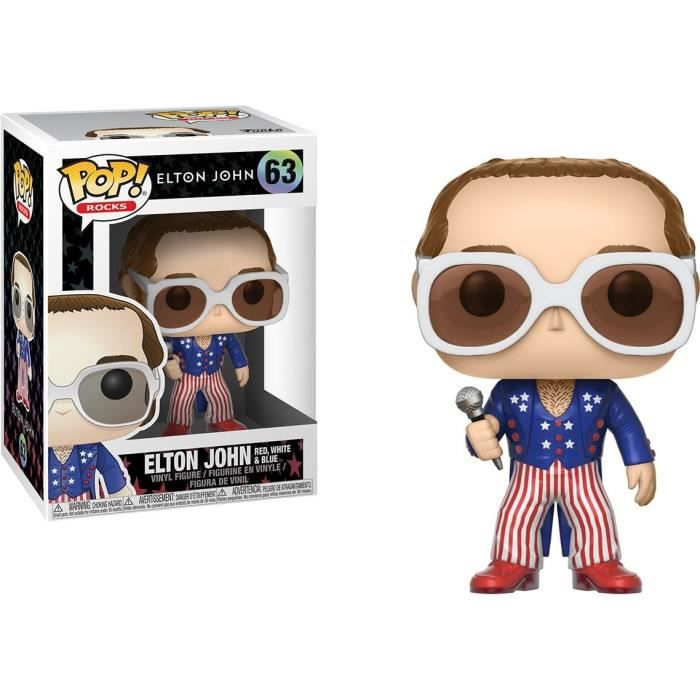 Figurine Funko Pop! Elton John: Elton John (Red, White & Blue)