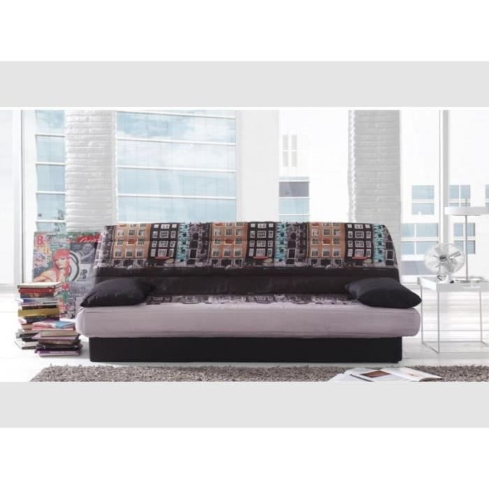clic clac tissu polyester imprime motif amsterdam achat vente clic clac tissu polyester. Black Bedroom Furniture Sets. Home Design Ideas