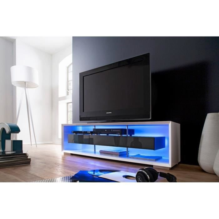 meuble tv lumineux belco laqu achat vente meuble tv. Black Bedroom Furniture Sets. Home Design Ideas
