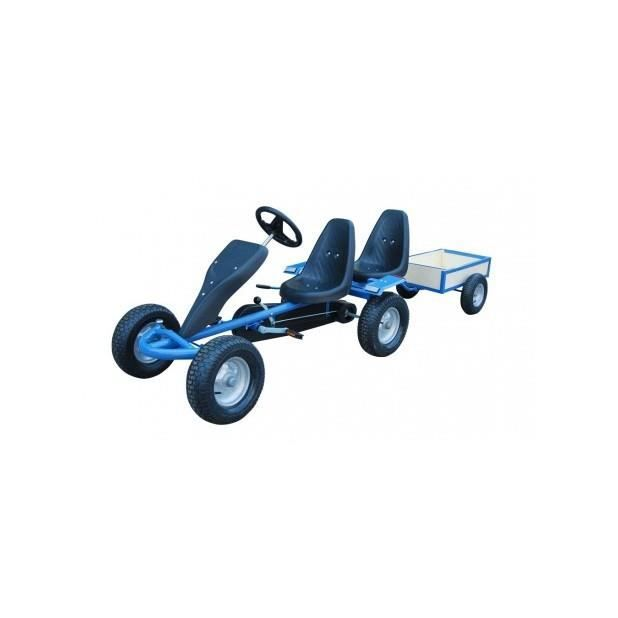 superbe kart p dales bleu 2 places remorque achat vente quad kart buggy cdiscount. Black Bedroom Furniture Sets. Home Design Ideas