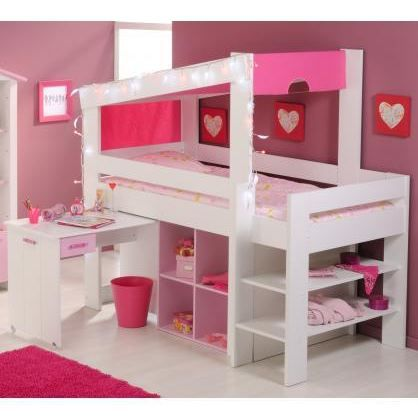 lit combin et bureau enfant praline achat vente lit. Black Bedroom Furniture Sets. Home Design Ideas