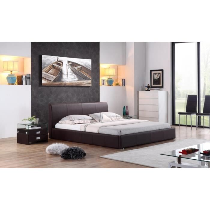 sublime structure de lit monaco 140x200 cm design. Black Bedroom Furniture Sets. Home Design Ideas