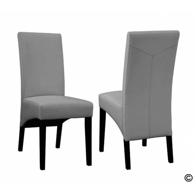 2 chaises cheyenne gris facon bycast haute qualite