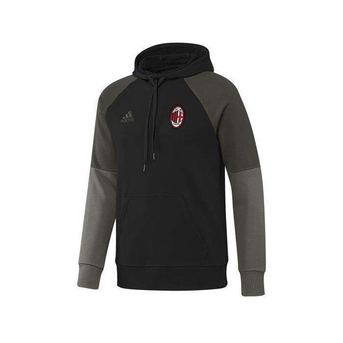 Sweat à Capuche Milan AC NoirVert Achat Vente sweat