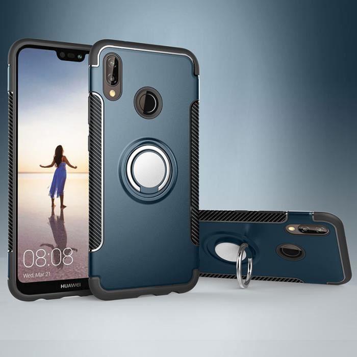 Coque Huawei P20 Lite, avec Aimant Anneau Support,