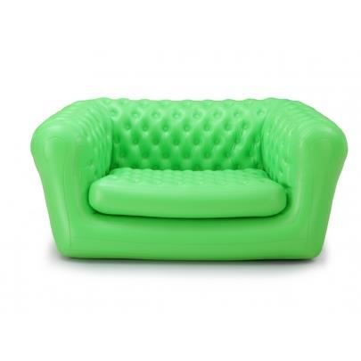 Canap de jardin gonflable 2 places chesterfield alperton vert achat ve - Canape chesterfield gonflable ...