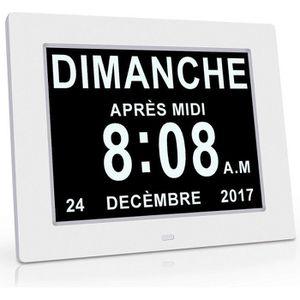 HORLOGE - PENDULE Horloge Calendrier - Auto Dimming pour Les Personn