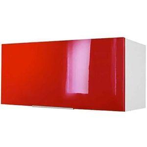 ÉLÉMENTS HAUT Meuble de cuisine haut sur hotte - 80cm - Rouge -