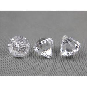 Décors de table Paquet de 40 pampille faux diamant décoration mari