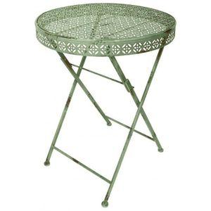Table de jardin pliable en fer forgé - Achat / Vente table ...