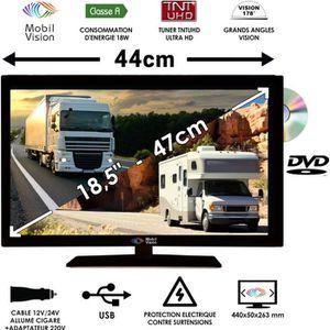Téléviseur combiné Combine TV/DVD pour Camping Car Camion Fourgon 18,